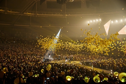 "South Korean boy band Sechs Kies performs in a comeback concert entitled ""Yellow Note"" held in southeastern Seoul on Sept. 11, 2016. This photo was provided by the YG Entertainment."