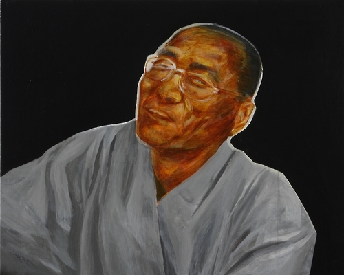 """Song Seon-gil, chief monk at Heungbok Temple 2"" by Suh Yong-sun, 80 x 100 cm, acrylic on canvas, 2004, 2006. (Yonhap)"