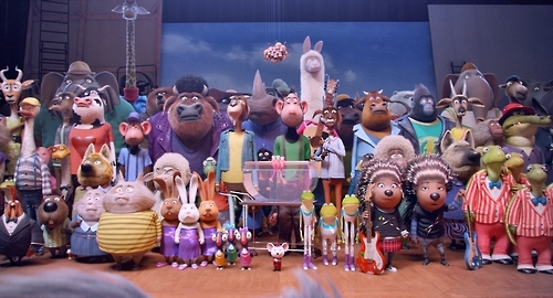 "This image provided by UPI Korea shows a scene from the animated musical film ""Sing"" (Yonhap)"