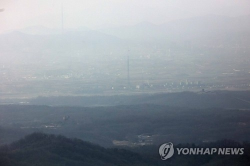 This file photo, taken on Feb. 10, 2017, shows an aerial view of the now closed joint industrial complex in North Korea's border town of Kaesong. (Yonhap)