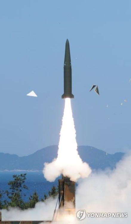 A test-launch of the Hyunmoo-2B missile in 2015 in this file photo. (Yonhap)