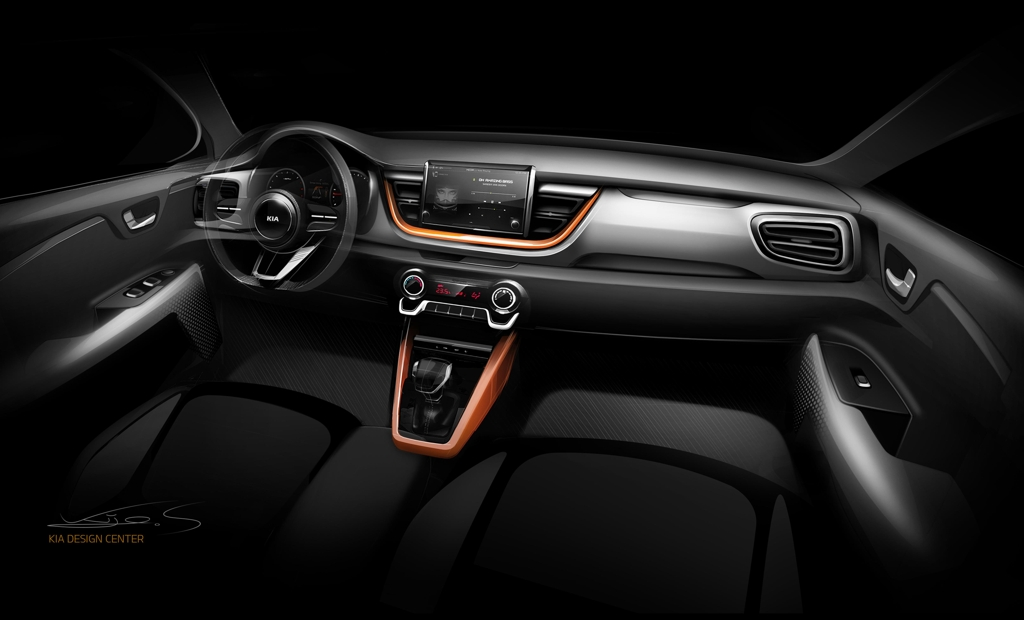 A rendered image of the interior of Kia's Stonic SUV (Photo courtesy of Kia Motors) (Yonhap)
