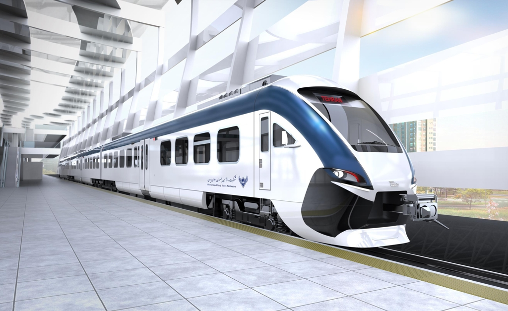 This graphic image shows a diesel-powered train to be built by Hyundai Rotem for use in Iran. (Yonhap)