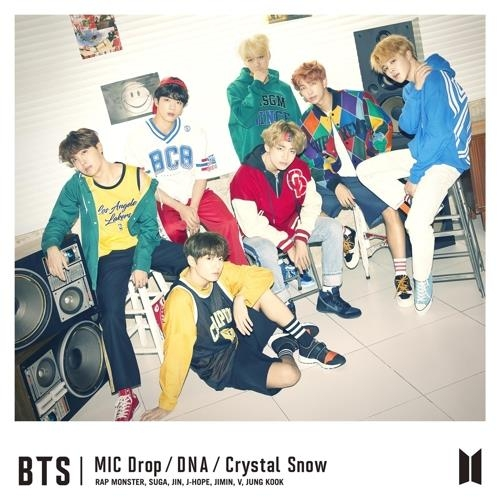 "The cover of BTS' single album ""MIC Drop/DNA/Crystal Snow"" in an image provided by Bit Hit Entertainment (Yonhap)"