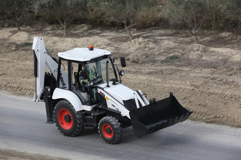 This file photo provided by Doosan Bobcat shows a backhoe loader. (Yonhap)