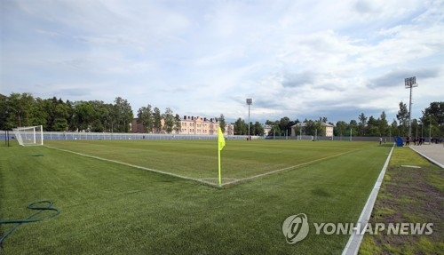 This photo taken on June 11, 2018, shows Spartak Stadium in Lomonosov near South Korea's 2018 FIFA World Cup base camp in Saint Petersburg, Russia. (Yonhap)