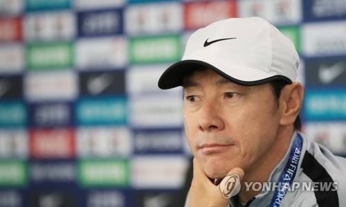 (World Cup) S. Korean football coach vows to shore up defensive organization in St. Petersburg training