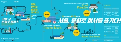 Seoul to install mini beach and snow sculptures in downtown plazas - 1