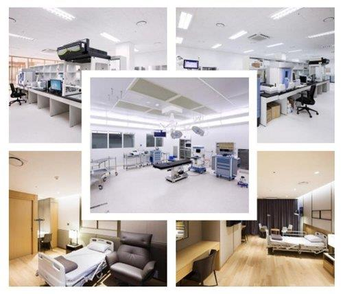 File photos provided by the Greenland International Medical Center show facilities of the nation's first for-profit hospital on Jeju Island. (Yonhap)