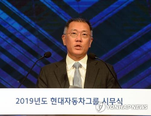 Hyundai Motor Group's Executive Vice Chairman Chung Eui-sun (Yonhap)
