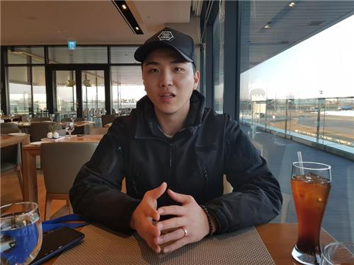 In this photo, taken on Dec. 12, 2018, Kim Kyoung-il, a 24-year-old employee at Incheon International Airport, talks about his experience of driving BMW's high-performance M models during an interview with Yonhap News Agency at BMW Driving Center in Incheon, 40 kilometers west of Seoul. (Yonhap)