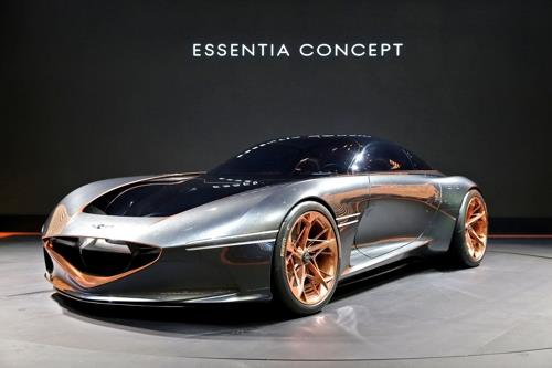 This photo provided by Hyundai Motor Co. on Jan. 4, 2019, shows the Genesis Essentia concept car. (Yonhap)