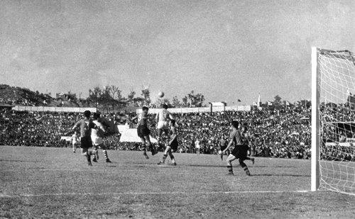 This undated photo provided by the Korea Football Association (KFA) shows the South Korea national football team competing at the 1960 Asian Football Confederation (AFC) Asian Cup at Hyochang Stadium in Seoul. (Yonhap)