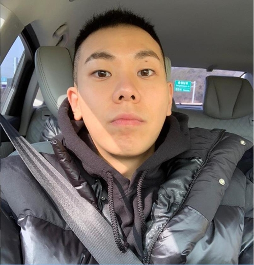 This image of rapper Loco in a military-style hair is captured from his Instagram account. (Yonhap)