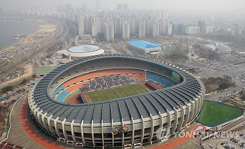 This file photo from March 29, 2015, shows Seoul Olympic Stadium. (Yonhap)