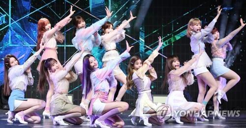 After sensational debut, girl band IZ*ONE drops another flower-hued album