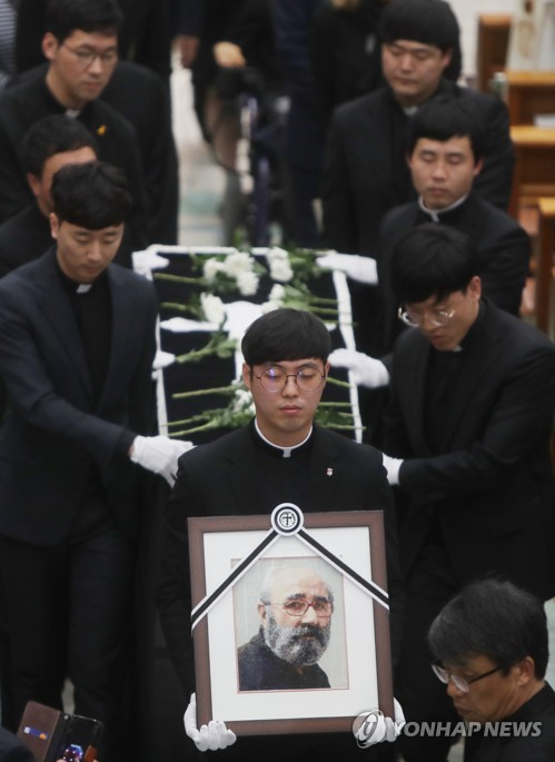 Funeral of Belgian pioneer in cheese making held in S. Korea