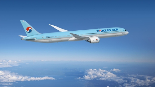 This photo provided by Korean Air shows a B787-10 passenger jet in flight. (PHOTO NOT FOR SALE) (Yonhap)