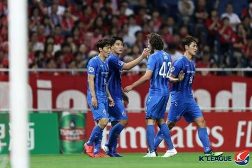 (LEAD) Ulsan beat Urawa in 1st knockout match at AFC Champions League