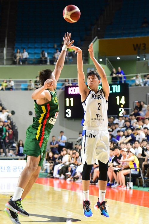 S. Korea falls to Lithuania in basketball worlds tuneup match