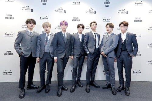 This image of BTS was provided by Big Hit Entertainment. (PHOTO NOT FOR SALE) (Yonhap)