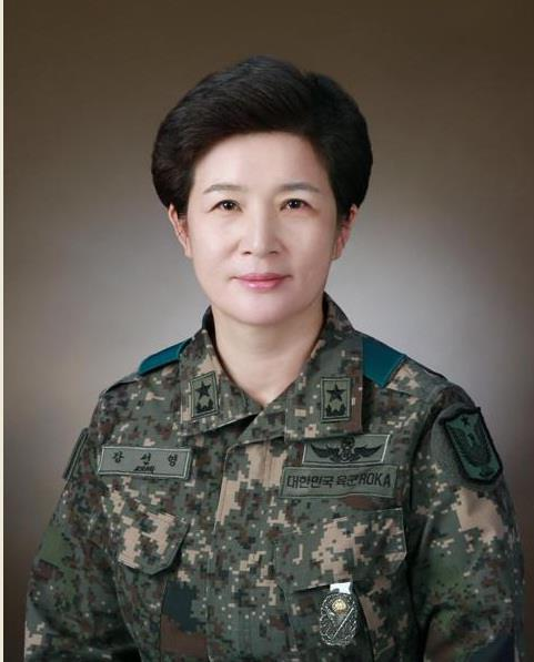 This photo provided by the defense ministry shows Maj. Gen. Kang Sun-young. (PHOTO NOT FOR SALE) (Yonhap)