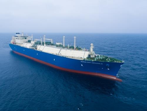 This undated image provided by Daewoo Shipbuilding & Marine Engineering Co. shows an LNG carrier built by the company. (PHOTO NOT FOR SALE) (Yonhap)