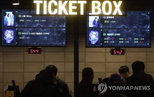Number of moviegoers in S. Korea exceeds 220 mln in 2019