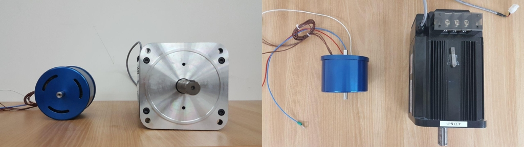 These photos provided by Daegu Gyeongbuk Institute of Science and Technology (DGIST) on Jan. 25, 2020, show a compact BLDC motor developed by a research team that can replace imports. (PHOTO NOT FOR SALE) (Yonhap)
