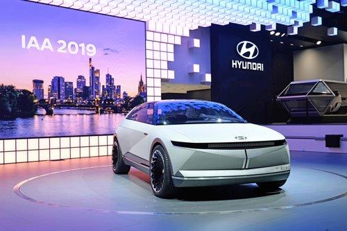 This photo, provided by Hyundai Motor Group on Sept. 10, 2019, shows the group's EV concept. (PHOTO NOT FOR SALE) (Yonhap)
