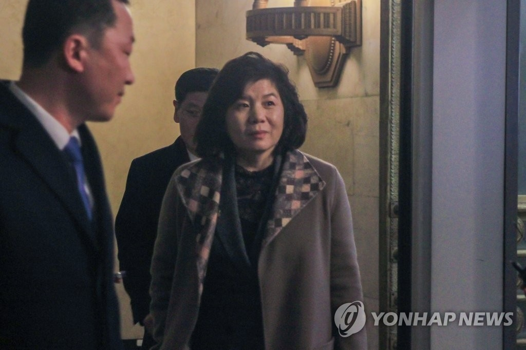 North Korea's First Vice Foreign Minister Choe Son-hui (Yonhap)