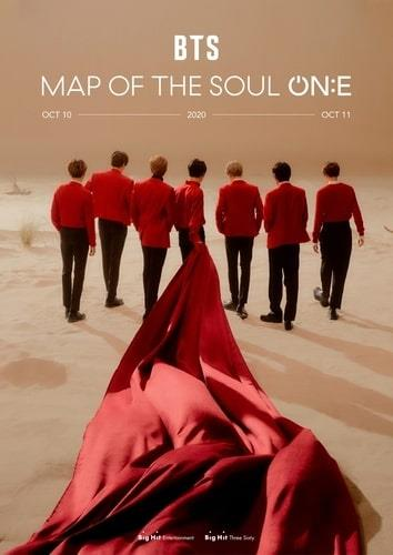 "This image provided by Big Hit Entertainment shows a promotional image for ""BTS Map Of The Soul: ON:E,"" a BTS concert scheduled for Oct. 10-11, 2020. (PHOTO NOT FOR SALE) (Yonhap)"