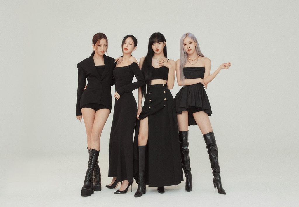 This image, provided by YG Entertainment, shows members of K-pop quartet BLACKPINK. (PHOTO NOT FOR SALE)(Yonhap)
