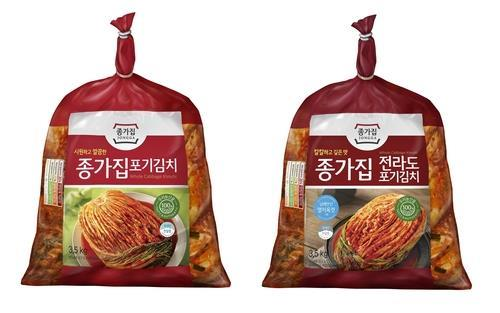 This photo, provided by Daesang Corp. on July 22, 2020, shows its Jonggajip kimchi. (PHOTO NOT FOR SALE) (Yonhap)