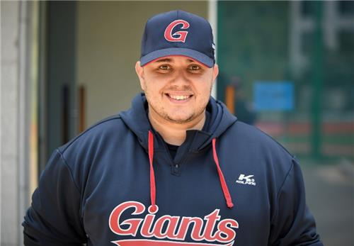 Josh Herzenberg, director of research and development for the Lotte Giants, in this photo provided by Herzenberg on Feb. 11, 2021. (PHOTO NOT FOR SALE) (Yonhap)
