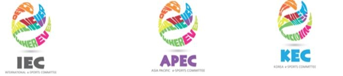 This image, provided by the International Esports Committee on Feb. 22, 2021, shows its logos for the Asia Pacific and Korea committees. (PHOTO NOT FOR SALE) (Yonhap)