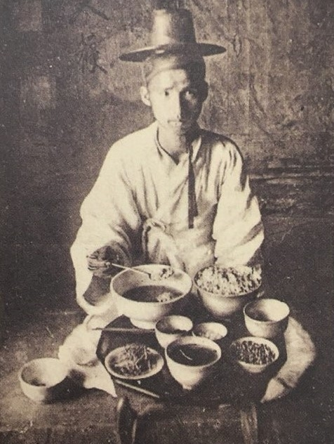 朝鮮時代両班の男性の毎日の食事献立