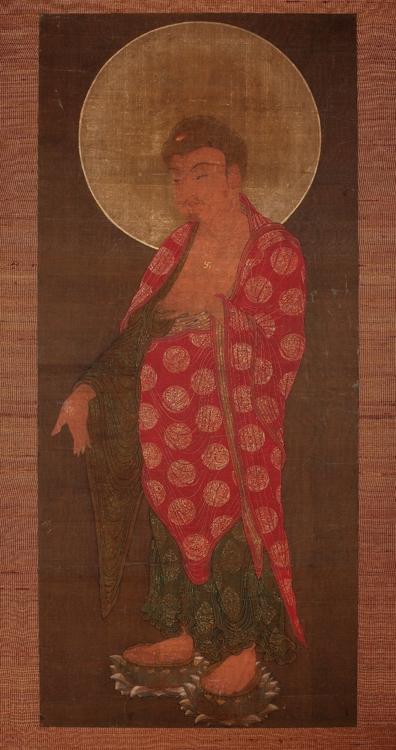 이탈리아 동양예술박물관 소장 14세기 '아미타여래도'. [국립중앙박물관 제공]