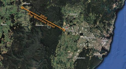 호주 시드니의 터널 구상