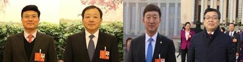왼쪽부터 김진길부주임, 김수호 주장, 김웅 총장, 김홍광 원사.