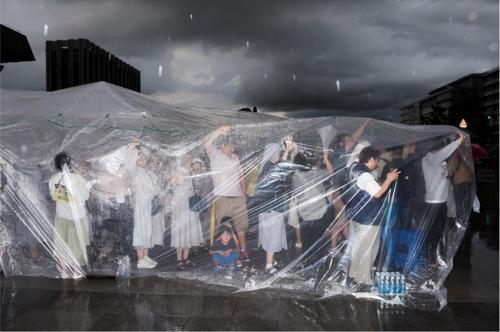 노순택, 허송세월 #CEI2601, 종이에 프린트, 가변크기, 2014