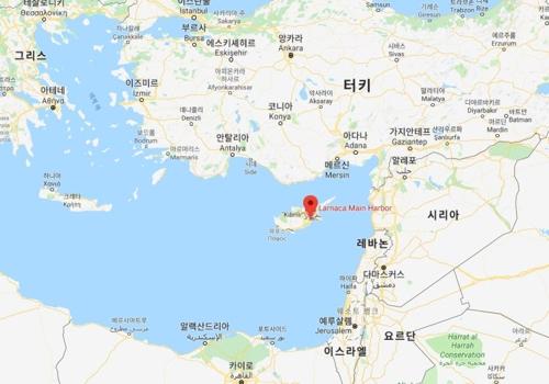 키프로스 라르나카항(港) 위치