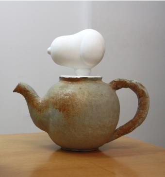 김나영&그레고리마스, 고고학적 스누피, 시멘트 등, 17×40×18cm, 2008