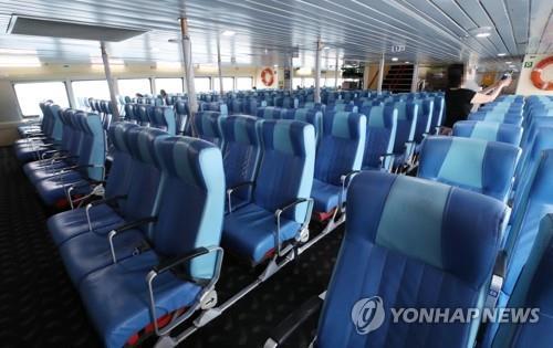 일본 여행 불매!, 텅 빈 대마도행 여객선
