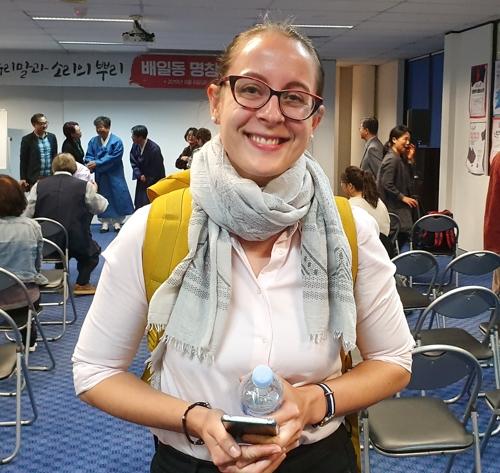 판소리를 연구하는 영국 출신 문화인류학자 안나 예이츠(30) 박사