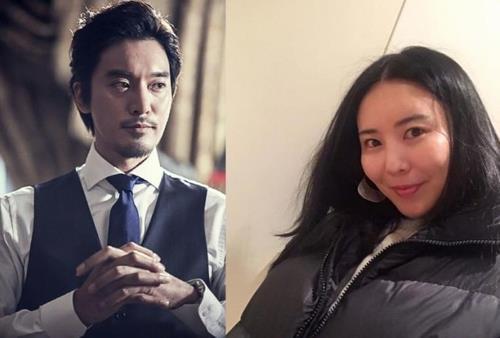 배우 김민준(왼쪽)과 권다미 씨