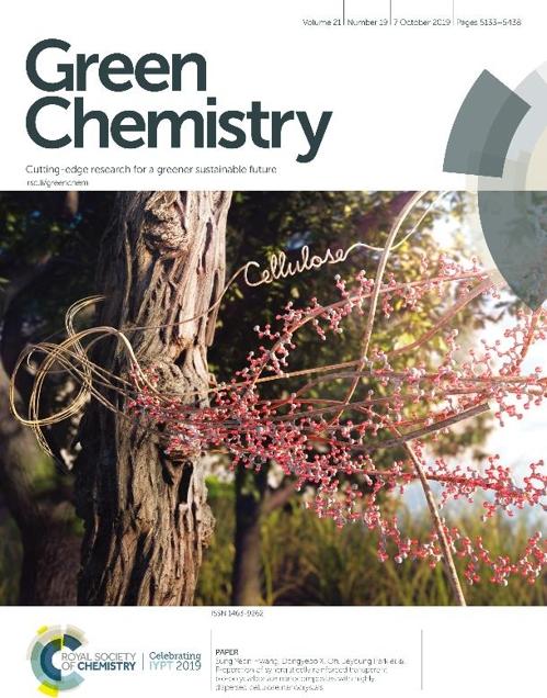 영국왕립화학회 '그린 케미스트리' 10월호 표지 논문