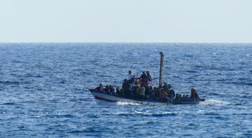 해상 이주민들의 모습. [ANSA 통신]