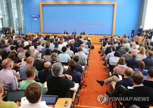 2016년 7월28일 독일연방기자회견협회가 주최한 메르켈 총리 기자회견