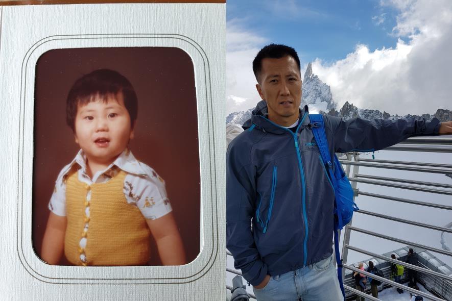 어린시절(왼쪽) 시절과 현재의 모습